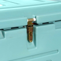 Embedded closing latch - sealable with a padlock/seal